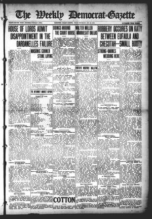Primary view of object titled 'The Weekly Democrat-Gazette (McKinney, Tex.), Vol. 32, Ed. 1 Thursday, October 28, 1915'.