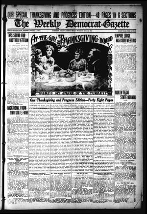 Primary view of object titled 'The Weekly Democrat-Gazette (McKinney, Tex.), Vol. 32, Ed. 1 Thursday, November 25, 1915'.