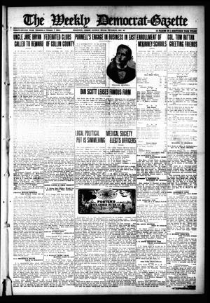 Primary view of object titled 'The Weekly Democrat-Gazette (McKinney, Tex.), Vol. 32, Ed. 1 Thursday, December 16, 1915'.