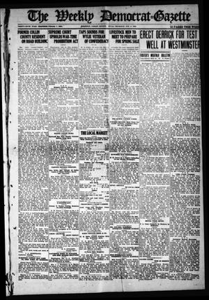 Primary view of object titled 'The Weekly Democrat-Gazette (McKinney, Tex.), Vol. 36, Ed. 1 Thursday, January 8, 1920'.