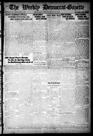 Primary view of object titled 'The Weekly Democrat-Gazette (McKinney, Tex.), Vol. 36, Ed. 1 Thursday, January 15, 1920'.