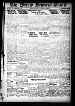 Primary view of object titled 'The Weekly Democrat-Gazette (McKinney, Tex.), Vol. 36, Ed. 1 Thursday, January 29, 1920'.
