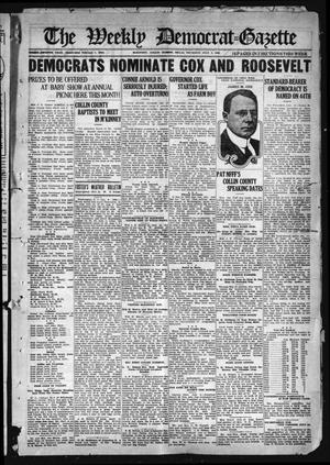 Primary view of object titled 'The Weekly Democrat-Gazette (McKinney, Tex.), Vol. 37, Ed. 1 Thursday, July 8, 1920'.