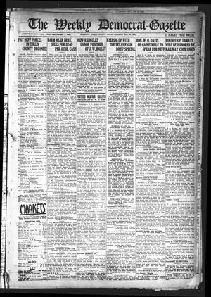 Primary view of object titled 'The Weekly Democrat-Gazette (McKinney, Tex.), Vol. 37, Ed. 1 Thursday, August 12, 1920'.