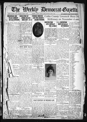 Primary view of object titled 'The Weekly Democrat-Gazette (McKinney, Tex.), Vol. 37, Ed. 1 Thursday, September 9, 1920'.