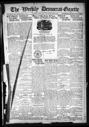 Primary view of object titled 'The Weekly Democrat-Gazette (McKinney, Tex.), Vol. 37, Ed. 1 Thursday, September 23, 1920'.