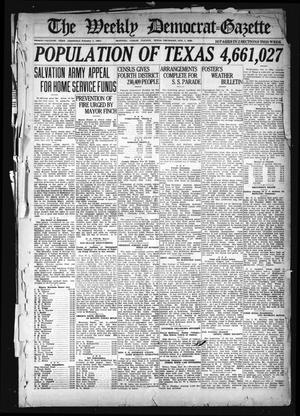 Primary view of object titled 'The Weekly Democrat-Gazette (McKinney, Tex.), Vol. 37, Ed. 1 Thursday, October 7, 1920'.