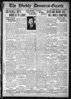 Primary view of object titled 'The Weekly Democrat-Gazette (McKinney, Tex.), Vol. 37, Ed. 1 Thursday, October 14, 1920'.