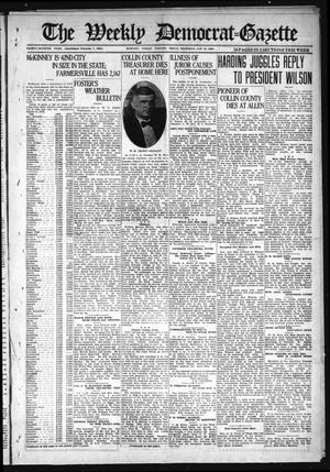 Primary view of object titled 'The Weekly Democrat-Gazette (McKinney, Tex.), Vol. 37, Ed. 1 Thursday, October 21, 1920'.