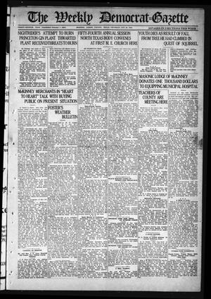 Primary view of object titled 'The Weekly Democrat-Gazette (McKinney, Tex.), Vol. 37, Ed. 1 Thursday, October 28, 1920'.