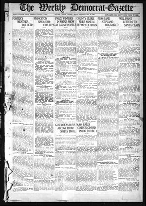 Primary view of object titled 'The Weekly Democrat-Gazette (McKinney, Tex.), Vol. 37, Ed. 1 Thursday, December 16, 1920'.