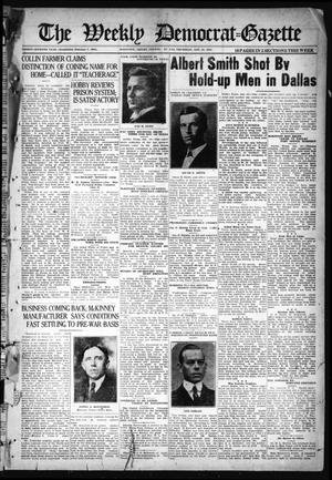 The Weekly Democrat-Gazette (McKinney, Tex.), Vol. 37, Ed. 1 Thursday, January 20, 1921
