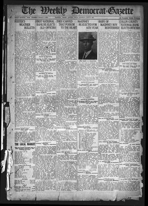 Primary view of object titled 'The Weekly Democrat-Gazette (McKinney, Tex.), Vol. 37, Ed. 1 Thursday, January 13, 1921'.