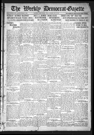 Primary view of object titled 'The Weekly Democrat-Gazette (McKinney, Tex.), Vol. 37, Ed. 1 Thursday, January 27, 1921'.