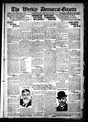 Primary view of object titled 'The Weekly Democrat-Gazette (McKinney, Tex.), Vol. 38, Ed. 1 Thursday, January 12, 1922'.
