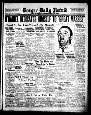 Primary view of object titled 'Borger Daily Herald (Borger, Tex.), Vol. 13, No. 48, Ed. 1 Tuesday, January 17, 1939'.