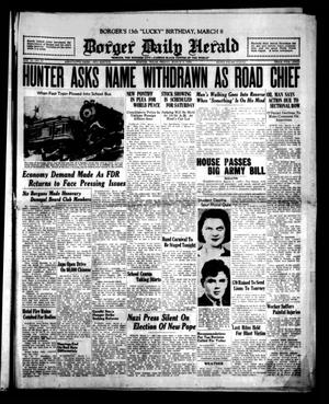 Primary view of object titled 'Borger Daily Herald (Borger, Tex.), Vol. 13, No. 87, Ed. 1 Friday, March 3, 1939'.