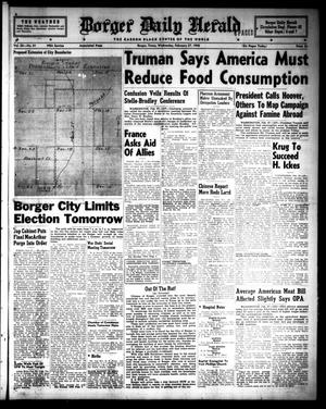 Primary view of object titled 'Borger Daily Herald (Borger, Tex.), Vol. 20, No. 81, Ed. 1 Wednesday, February 27, 1946'.
