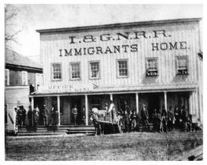 Primary view of object titled '[I&GN Railroad Immigrants Home]'.