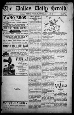 Primary view of object titled 'The Dallas Herald. (Dallas, Tex.), Vol. 2, No. 128, Ed. 1 Tuesday, June 14, 1887'.