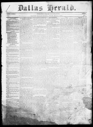 Primary view of object titled 'Dallas Herald. (Dallas, Tex.), Vol. 5, No. 2, Ed. 1 Saturday, May 31, 1856'.