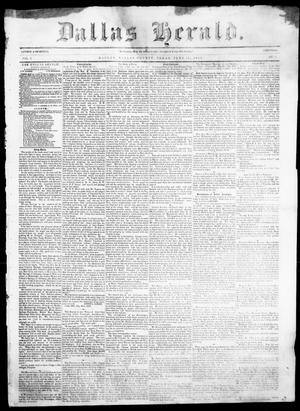 Dallas Herald. (Dallas, Tex.), Vol. 5, No. 5, Ed. 1 Saturday, June 21, 1856