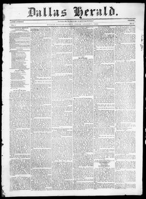 Primary view of object titled 'Dallas Herald. (Dallas, Tex.), Vol. 5, No. 12, Ed. 1 Saturday, August 9, 1856'.