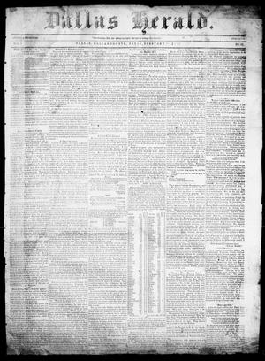 Dallas Herald. (Dallas, Tex.), Vol. 7, No. 33, Ed. 1 Wednesday, February 16, 1859