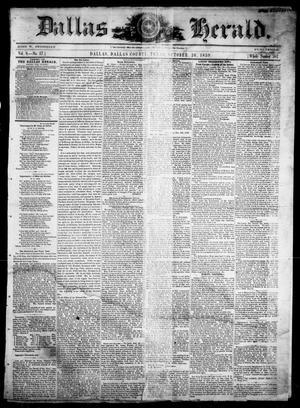Primary view of Dallas Herald. (Dallas, Tex.), Vol. 8, No. 17, Ed. 1 Wednesday, October 26, 1859