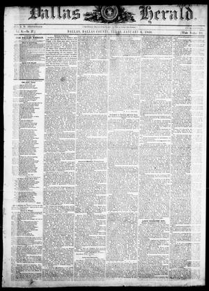 Primary view of object titled 'Dallas Herald. (Dallas, Tex.), Vol. 8, No. 27, Ed. 1 Wednesday, January 4, 1860'.