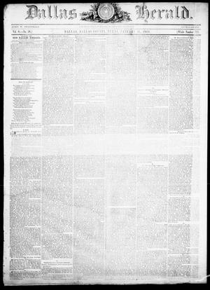 Primary view of object titled 'Dallas Herald. (Dallas, Tex.), Vol. 8, No. 28, Ed. 1 Wednesday, January 11, 1860'.