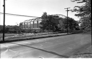 Primary view of object titled '[The Demolition of the Convention Hall--1 of 5:   Front View]'.