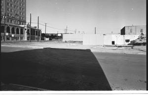 Primary view of object titled '[The Construction Site of the Mineral Wells Savings and Loan, 3 of 3: The East Side of the Construction]'.