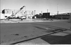 [The Construction Site of the Mineral Wells Savings and Loan, 2 of 3: A Piggy Wiggly Is in the Background]