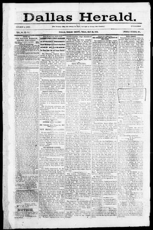 Primary view of object titled 'Dallas Herald. (Dallas, Tex.), Vol. 10, No. 24, Ed. 1 Saturday, May 10, 1862'.
