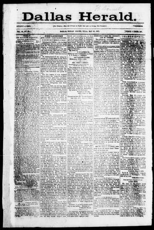 Primary view of Dallas Herald. (Dallas, Tex.), Vol. 10, No. 26, Ed. 1 Saturday, May 24, 1862