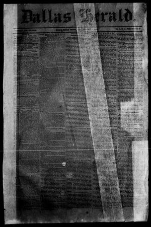 Primary view of Dallas Herald. (Dallas, Tex.), Vol. 11, No. 12, Ed. 1 Wednesday, February 18, 1863