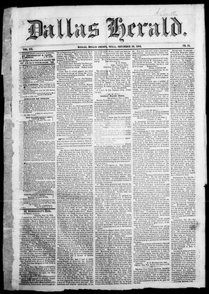 Primary view of object titled 'Dallas Herald. (Dallas, Tex.), Vol. 12, No. 14, Ed. 1 Saturday, November 26, 1864'.