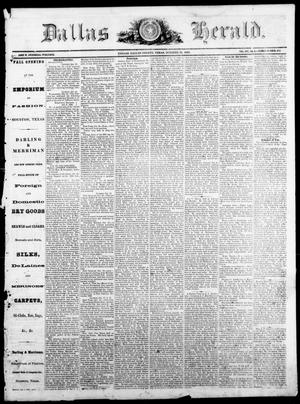 Primary view of Dallas Herald. (Dallas, Tex.), Vol. 14, No. 6, Ed. 1 Saturday, October 27, 1866