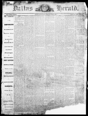 Dallas Herald. (Dallas, Tex.), Vol. 14, No. 7, Ed. 1 Saturday, November 3, 1866