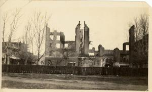 Primary view of object titled '[The Crazy Hotel after the Fire of 1925]'.