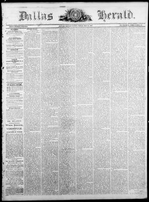 Primary view of Dallas Herald. (Dallas, Tex.), Vol. 17, No. 35, Ed. 1 Saturday, May 14, 1870