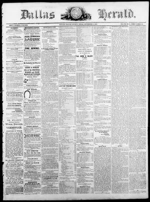 Primary view of Dallas Herald. (Dallas, Tex.), Vol. 17, No. 51, Ed. 1 Saturday, September 3, 1870