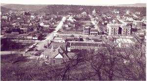 Primary view of object titled '[Downtown Mineral Wells, Texas :  January 11, 1919]'.