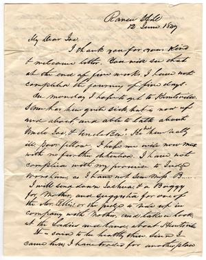 Primary view of object titled '[Letter from Sam Houston to Joseph Ellis, June 12, 1847]'.