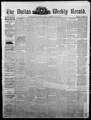 Primary view of object titled 'The Dallas Weekly Herald. (Dallas, Tex.), Vol. 20, No. 44, Ed. 1 Saturday, July 19, 1873'.