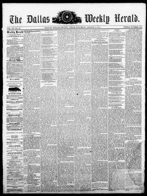 Primary view of object titled 'The Dallas Weekly Herald. (Dallas, Tex.), Vol. 20, No. 46, Ed. 1 Saturday, August 2, 1873'.