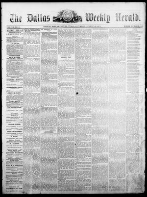 Primary view of object titled 'The Dallas Weekly Herald. (Dallas, Tex.), Vol. 20, No. 48, Ed. 1 Saturday, August 16, 1873'.