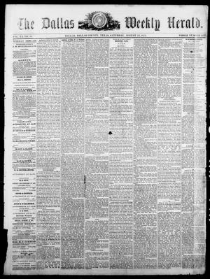 Primary view of object titled 'The Dallas Weekly Herald. (Dallas, Tex.), Vol. 20, No. 49, Ed. 1 Saturday, August 23, 1873'.