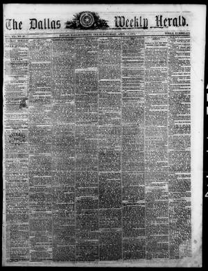 Primary view of object titled 'The Dallas Weekly Herald. (Dallas, Tex.), Vol. 21, No. 30, Ed. 1 Saturday, April 11, 1874'.